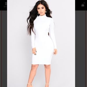 Fashion nova white Bodycon dress